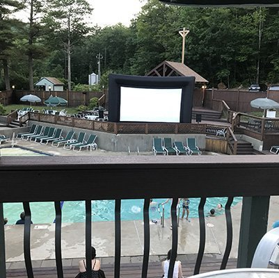 Waterville Estates Campton NH Outdoor Movie Night Recreation Center Featured Image